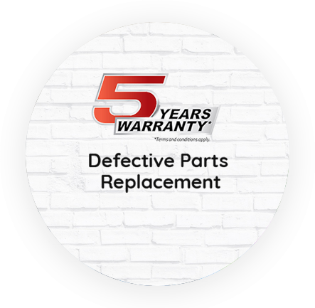 Insect Shield Provides 5 year warranty in defective Parts
